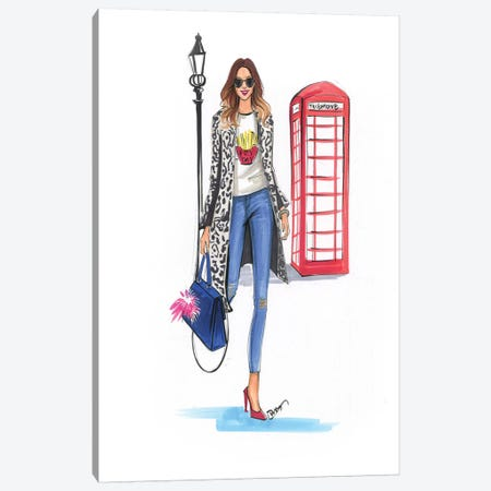 London Style Canvas Print #RDE140} by Rongrong DeVoe Canvas Wall Art