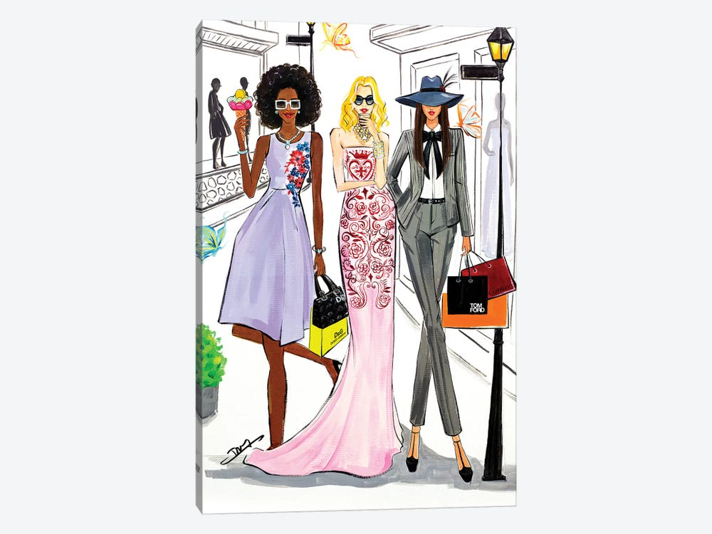 Shopping Day by Rongrong DeVoe 1-piece Canvas Art