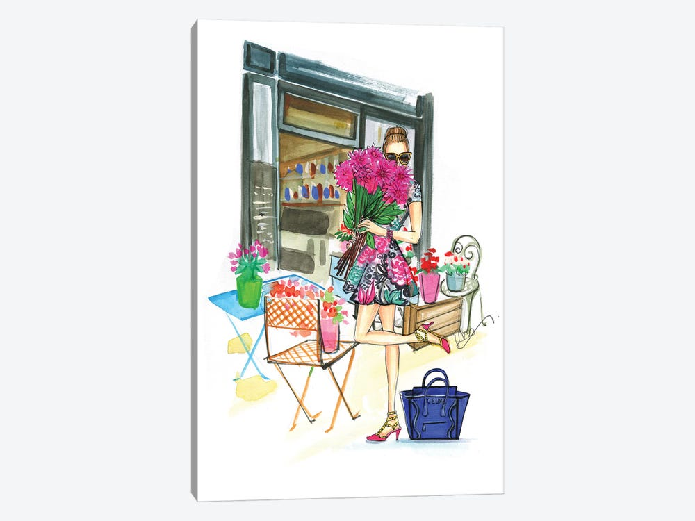 Smell The Flowers by Rongrong DeVoe 1-piece Art Print