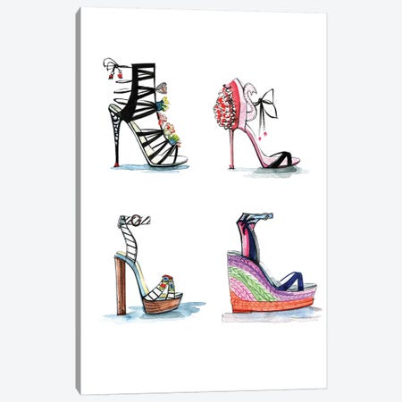 Sophia Webster Shoe Collection Canvas Print #RDE147} by Rongrong DeVoe Art Print