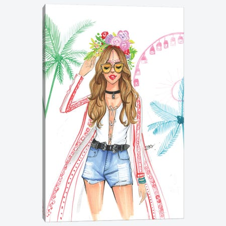 Coachella Canvas Print #RDE152} by Rongrong DeVoe Art Print