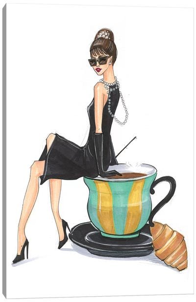 Audrey Hepburn And Tiffany Canvas Art Print