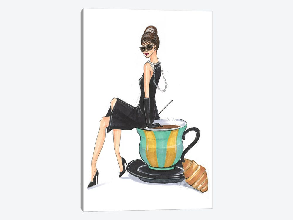 Audrey Hepburn And Tiffany 1-piece Canvas Print