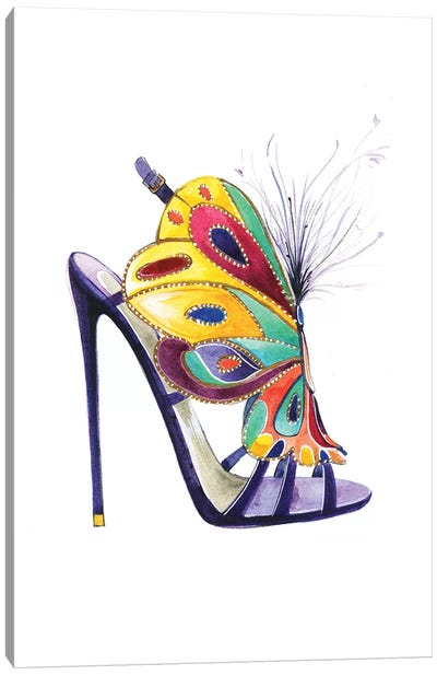 Butterfly Shoes By Brian Atwood Canvas Art Print