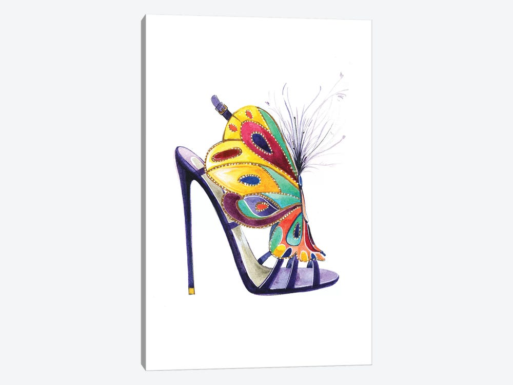 Butterfly Shoes By Brian Atwood by Rongrong DeVoe 1-piece Canvas Art Print