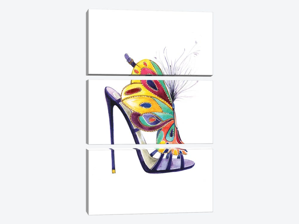 Butterfly Shoes By Brian Atwood by Rongrong DeVoe 3-piece Art Print