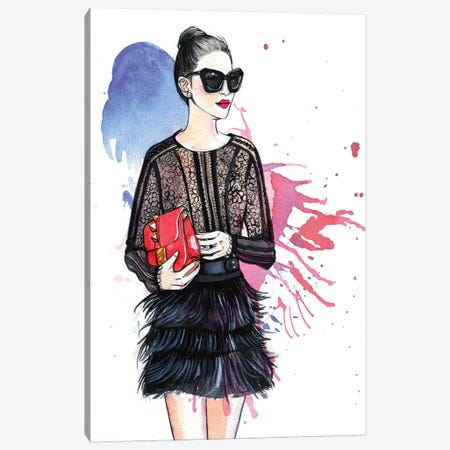 Fashion Blogger Canvas Print #RDE163} by Rongrong DeVoe Canvas Artwork