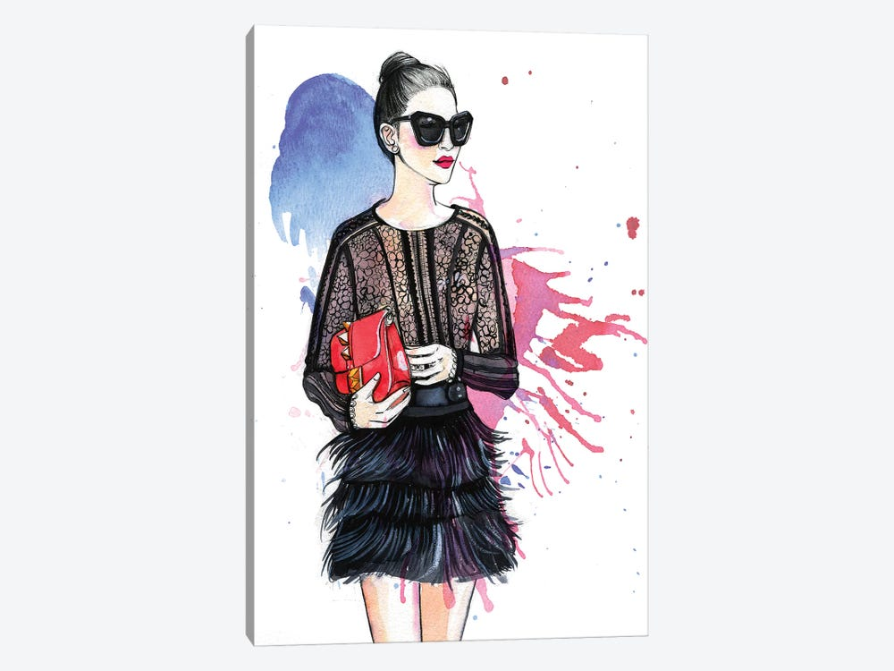 Fashion Blogger by Rongrong DeVoe 1-piece Canvas Art