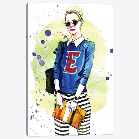 Fashion Blogger, Blair Canvas Print #RDE164} by Rongrong DeVoe Canvas Art Print