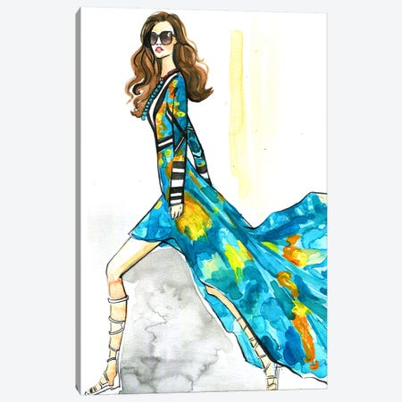 Fashion Lady Canvas Print #RDE165} by Rongrong DeVoe Canvas Art Print