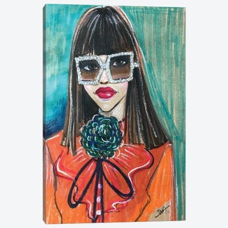 Gucci Portrait Canvas Print #RDE166} by Rongrong DeVoe Canvas Print