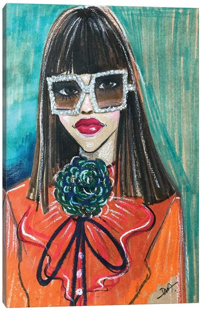 Gucci Portrait Canvas Art Print