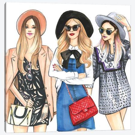 Hat Ladies Canvas Print #RDE167} by Rongrong DeVoe Canvas Art Print