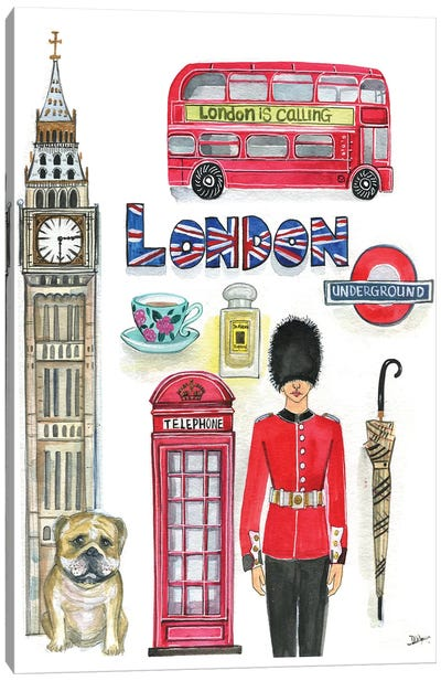 London Artwork Canvas Art Print