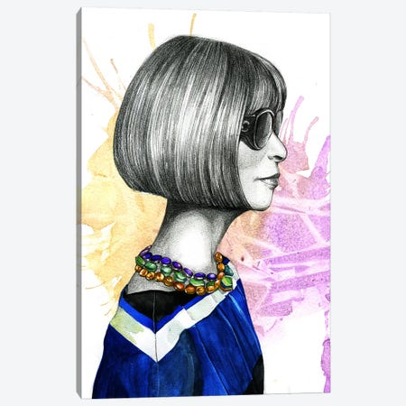 Anna Wintour Canvas Print #RDE16} by Rongrong DeVoe Canvas Art Print