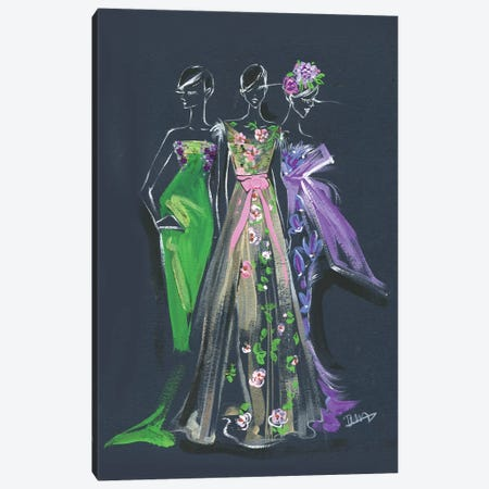 Marchesa Spring Gown 3-Piece Canvas #RDE170} by Rongrong DeVoe Canvas Art Print