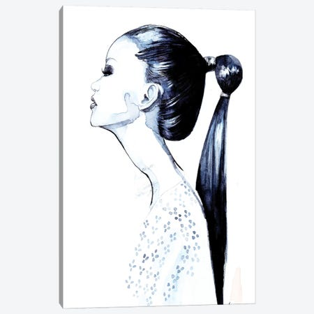 Pony Tail Girl Canvas Print #RDE172} by Rongrong DeVoe Art Print