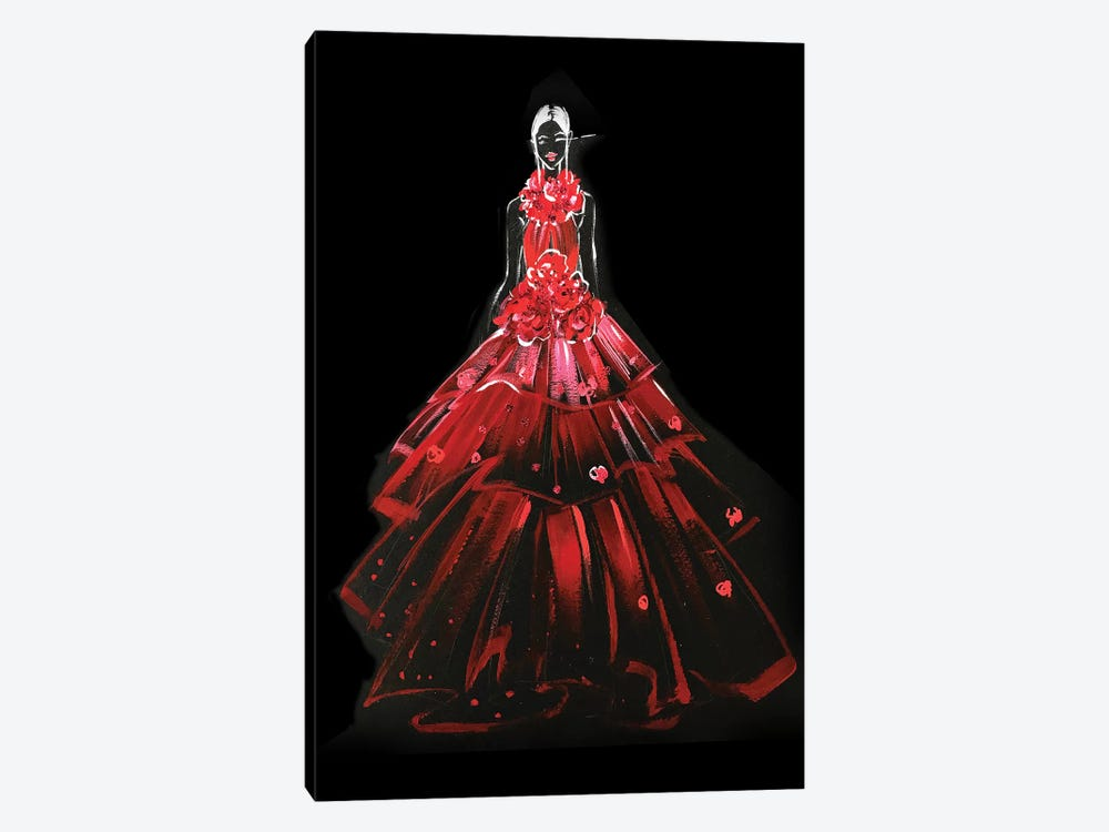 Red Gown by Rongrong DeVoe 1-piece Canvas Wall Art