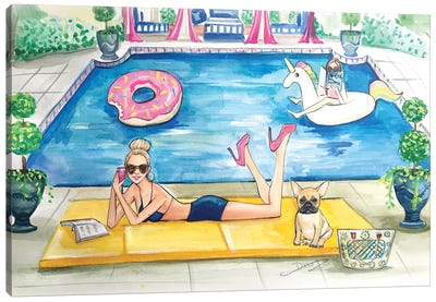 Summer Pool Party Canvas Art Print