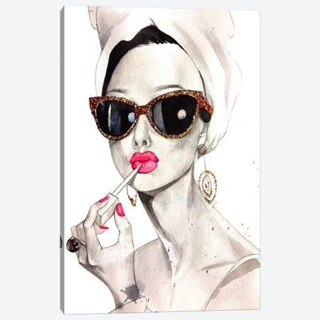 Audrey Hepburn Canvas Print #RDE17} by Rongrong DeVoe Canvas Art Print