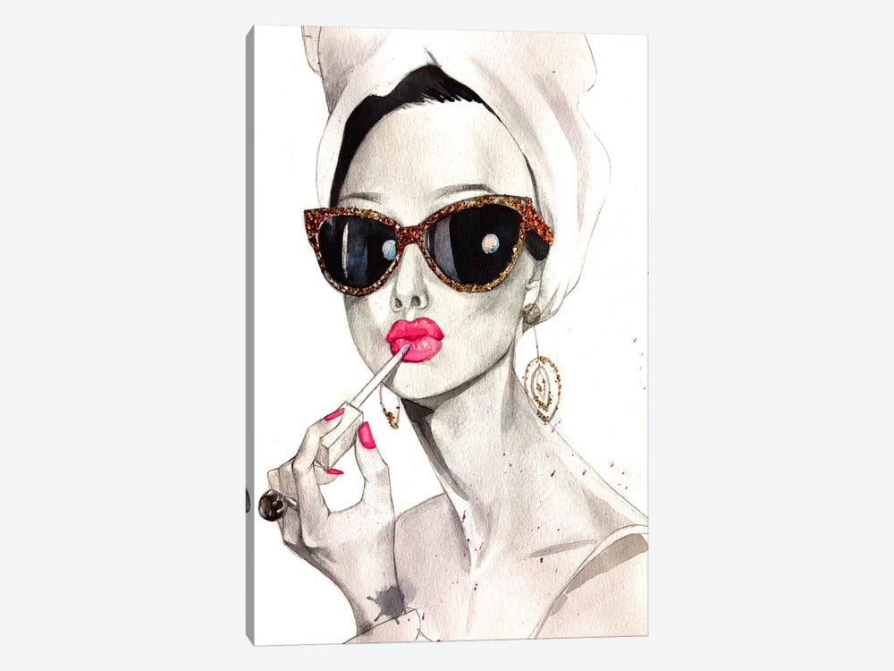 Audrey Hepburn by Rongrong DeVoe 1-piece Canvas Art Print