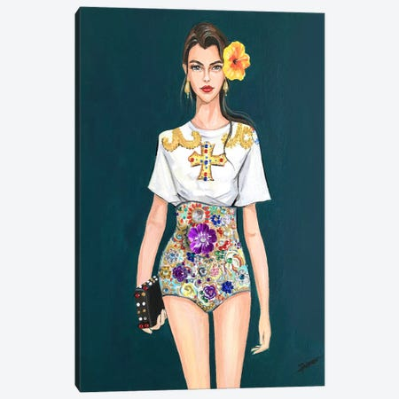 D&G Gal Canvas Print #RDE182} by Rongrong DeVoe Canvas Art