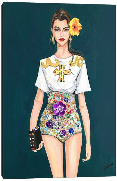 D&G Gal Canvas Art Print