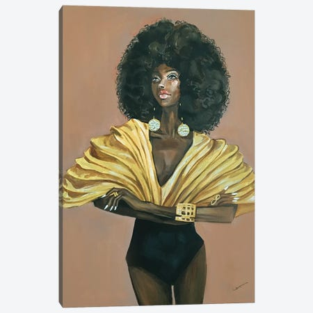 Diva Canvas Print #RDE183} by Rongrong DeVoe Canvas Artwork