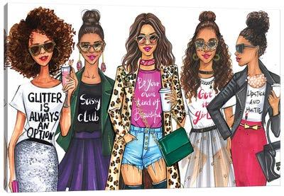 Fashionistas, African American Canvas Art Print
