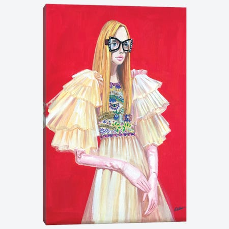 Gucci Lady 3-Piece Canvas #RDE186} by Rongrong DeVoe Canvas Print