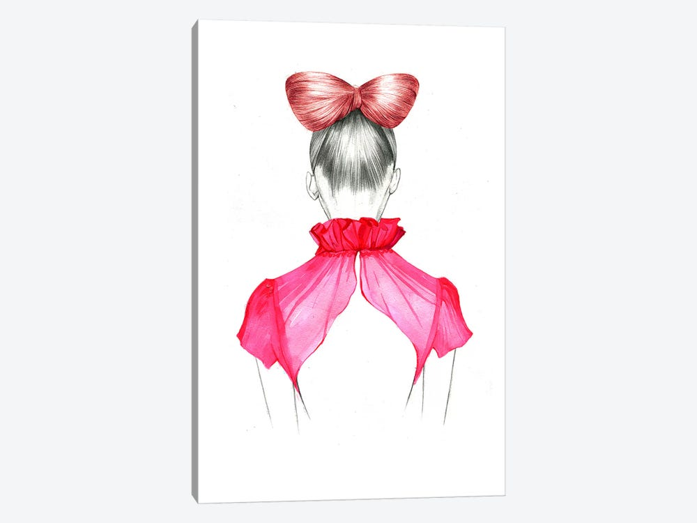 Bow Hair Girl  by Rongrong DeVoe 1-piece Canvas Art