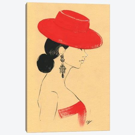 Ralph Lauren Red Canvas Print #RDE191} by Rongrong DeVoe Art Print