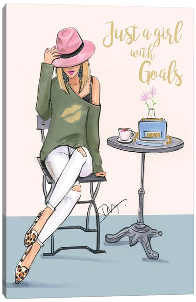 A Girl With Goals by Rongrong DeVoe Canvas Art Print