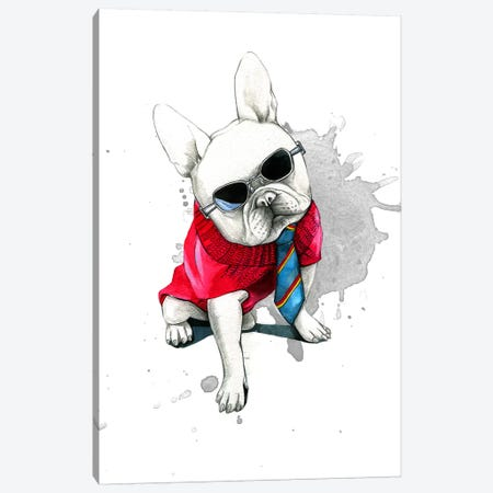 Bulldog Canvas Print #RDE19} by Rongrong DeVoe Canvas Art