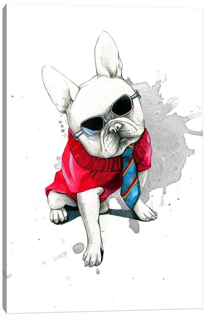 Bulldog Canvas Print #RDE19