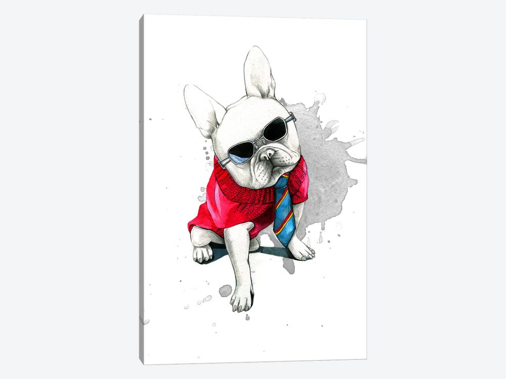 Bulldog by Rongrong DeVoe 1-piece Art Print