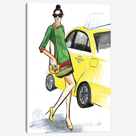 New York Fashion Canvas Print #RDE1} by Rongrong DeVoe Canvas Art