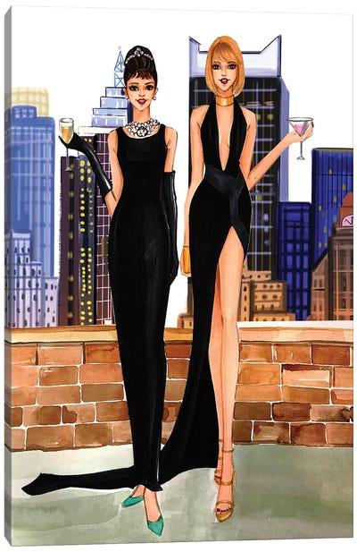 Audrey Hepurn And Taylor Swift Canvas Art Print