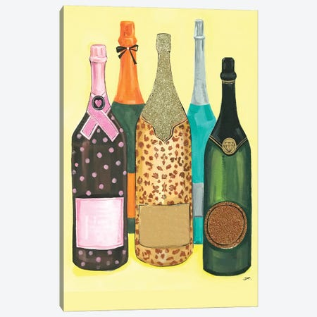 Champagne Without Logo Canvas Print #RDE204} by Rongrong DeVoe Canvas Wall Art