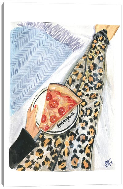 Feed Me Pizza Canvas Art Print
