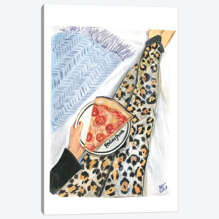 Feed Me Pizza Canvas Print #RDE208} by Rongrong DeVoe Canvas Art Print