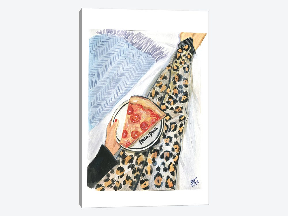 Feed Me Pizza by Rongrong DeVoe 1-piece Canvas Print
