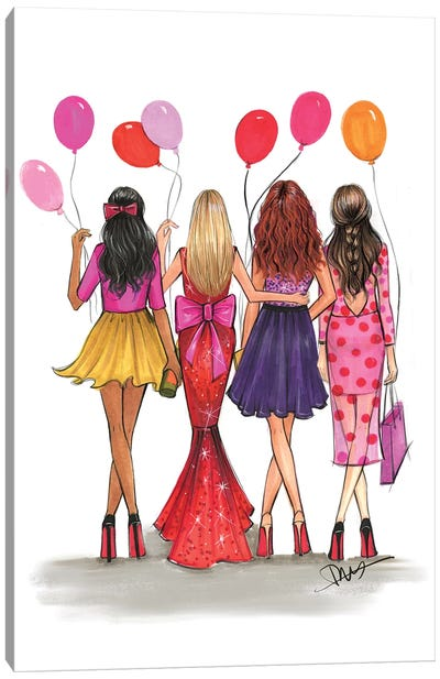 Galentine's Canvas Art Print