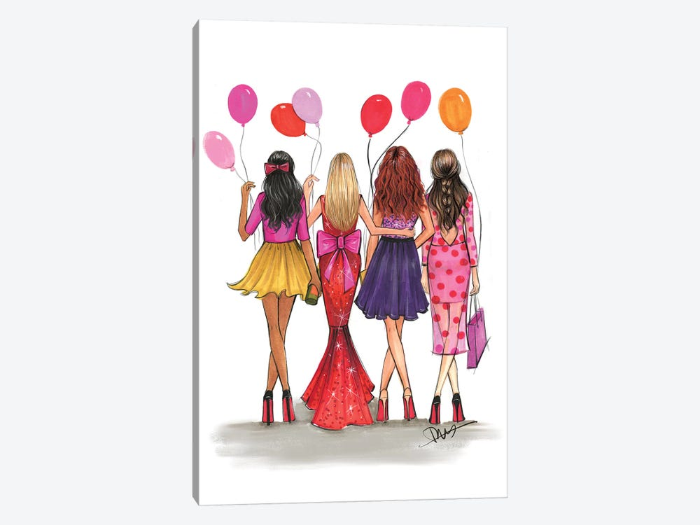 Galentine's by Rongrong DeVoe 1-piece Canvas Artwork