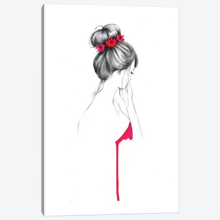 Bun Flower Girl  Canvas Print #RDE20} by Rongrong DeVoe Canvas Print