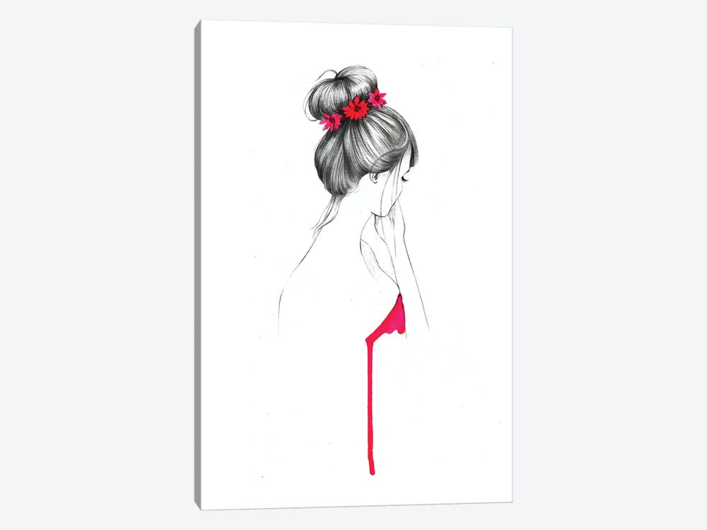 Bun Flower Girl by Rongrong DeVoe 1-piece Canvas Print