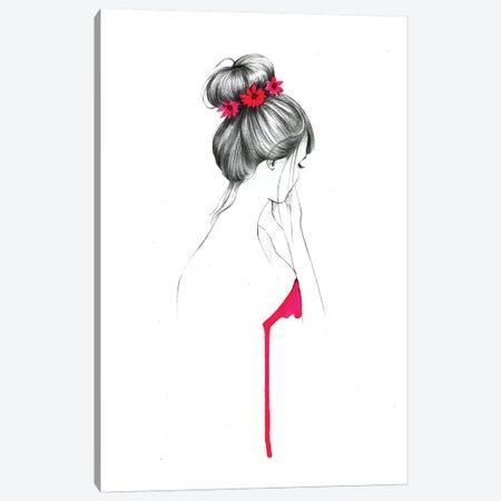 Bun Flower Girl  Canvas Print #RDE20} by Rongrong DeVoe Canvas Print