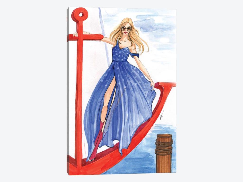 Girl On An Anchor by Rongrong DeVoe 1-piece Canvas Artwork