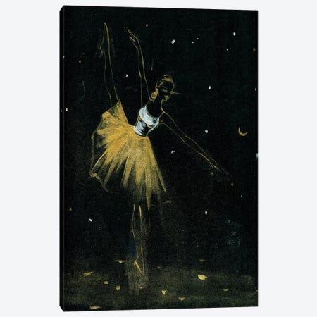 Golden Ballerina 3-Piece Canvas #RDE212} by Rongrong DeVoe Canvas Artwork