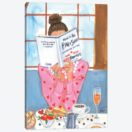 How To Be Parisian - Breakfast Time Canvas Print #RDE213} by Rongrong DeVoe Canvas Art